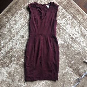 H&M Maroon Dress Size 4